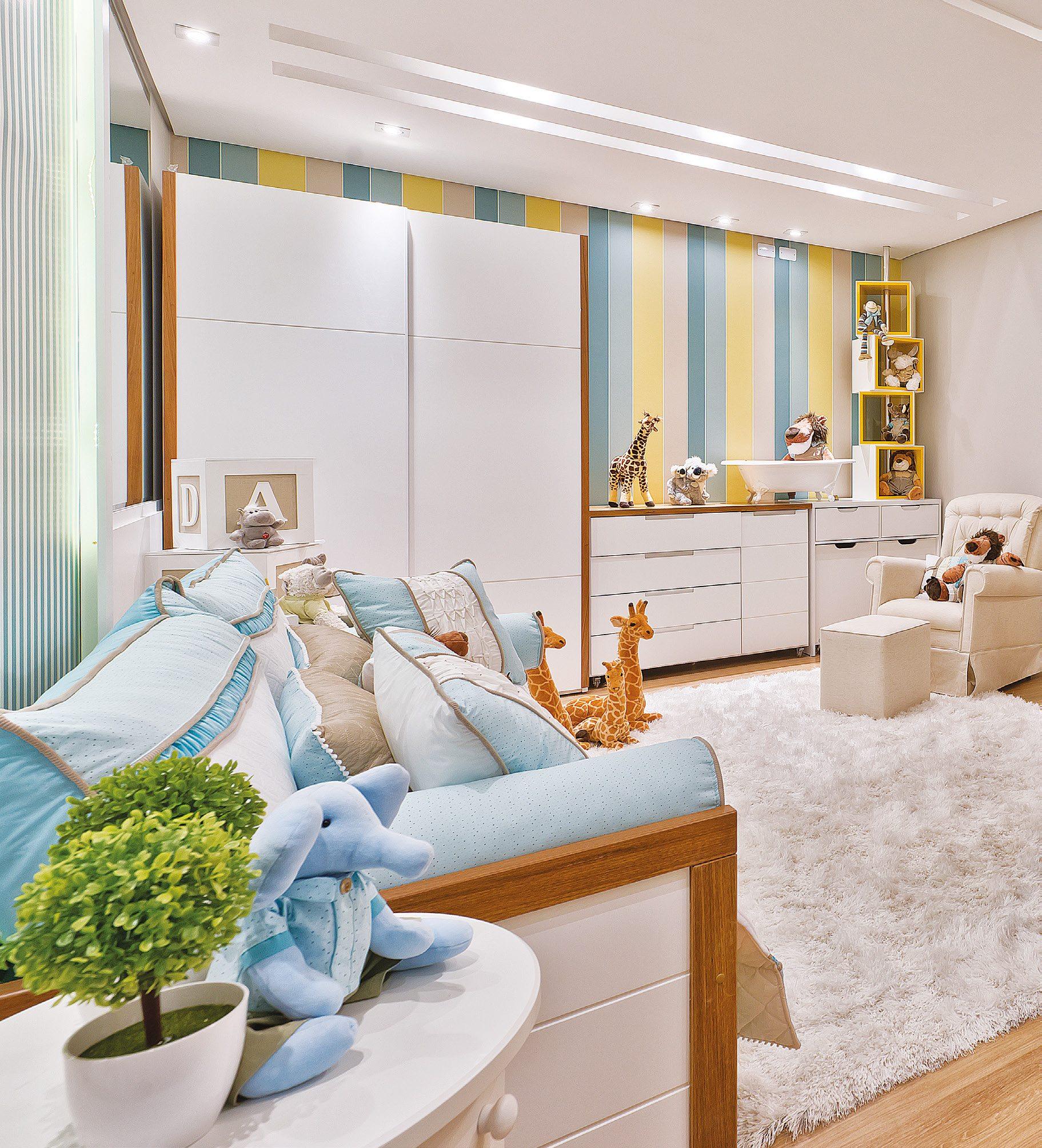 Quarto De Beb Moderno L Dico E Colorido Casa Ambiente Beb  ~ Armario Quarto Branco Com Parede Colorida Quarto