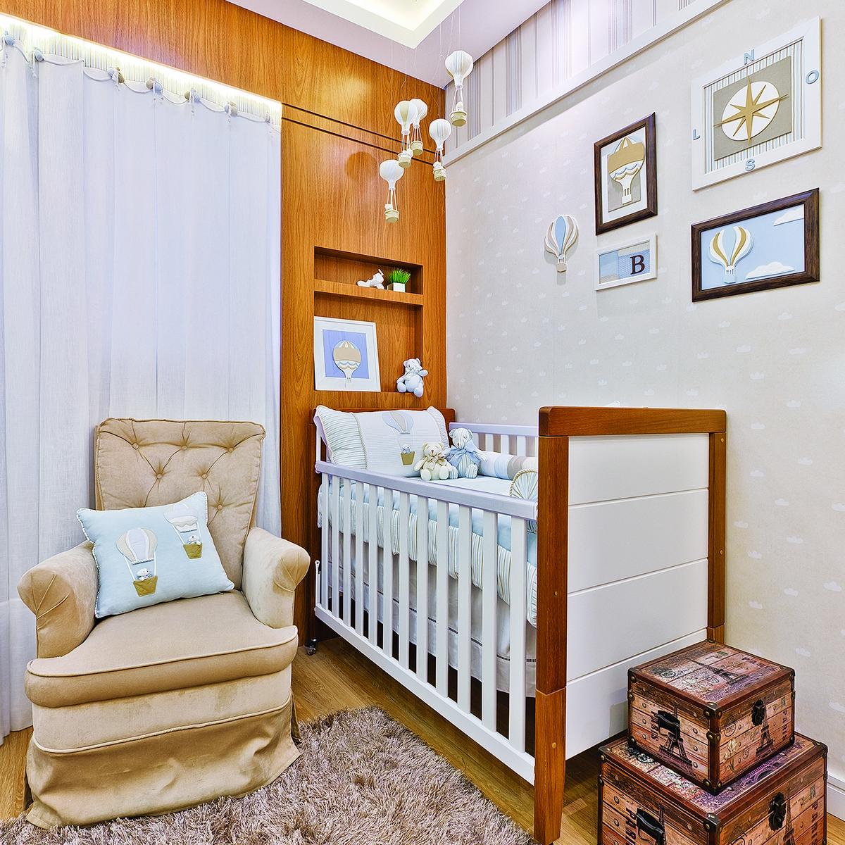 Quarto Tema Bal O Alegre E Sofisticado Casa Ambiente Beb  ~ Quarto Com Cabeceira E Nicho Para Quarto Bebe