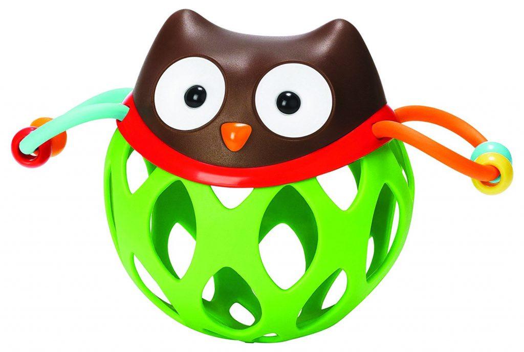 Coruja verde para bebês para a hora de brincar.