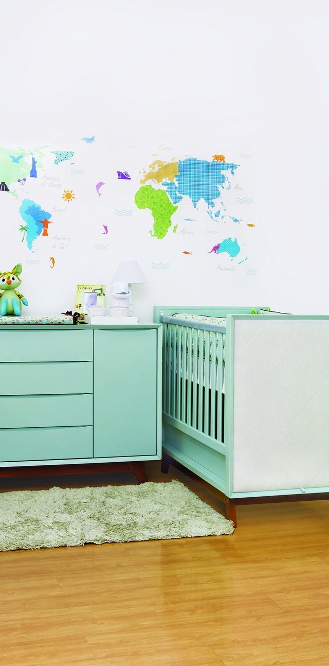 Quarto Mapa M Ndi Tend Ncia Em Alta Casa Ambiente Beb  ~ Tapete Quarto Pequeno E Quarto Com Cama Elevada