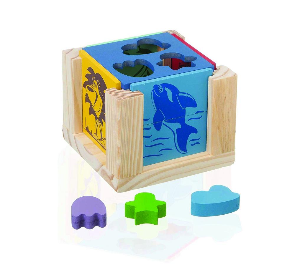 Cubo colorido e educativo para as brincadeiras com o bebê